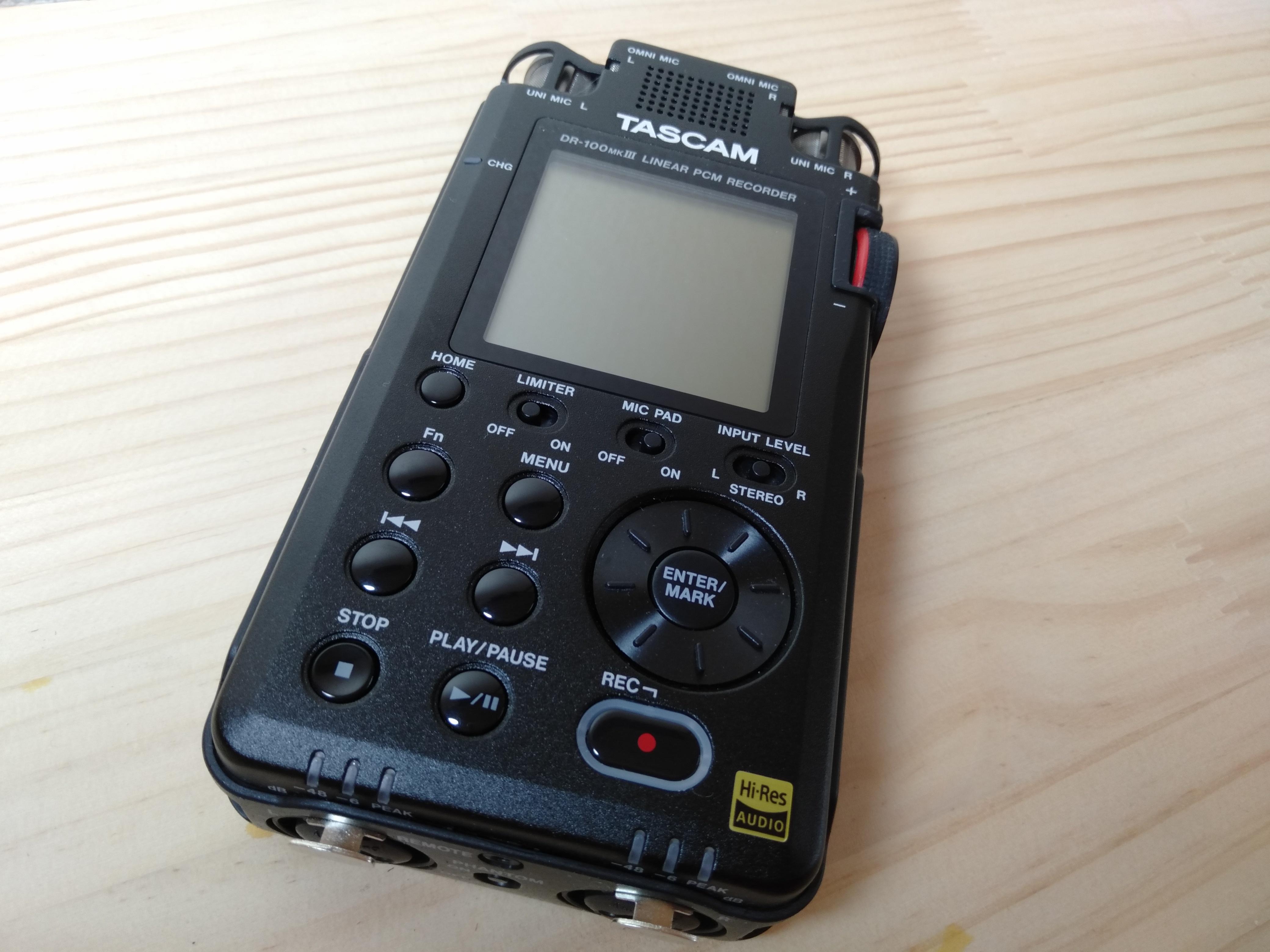 【Tascam】 DR-100MKIII 音質チェック