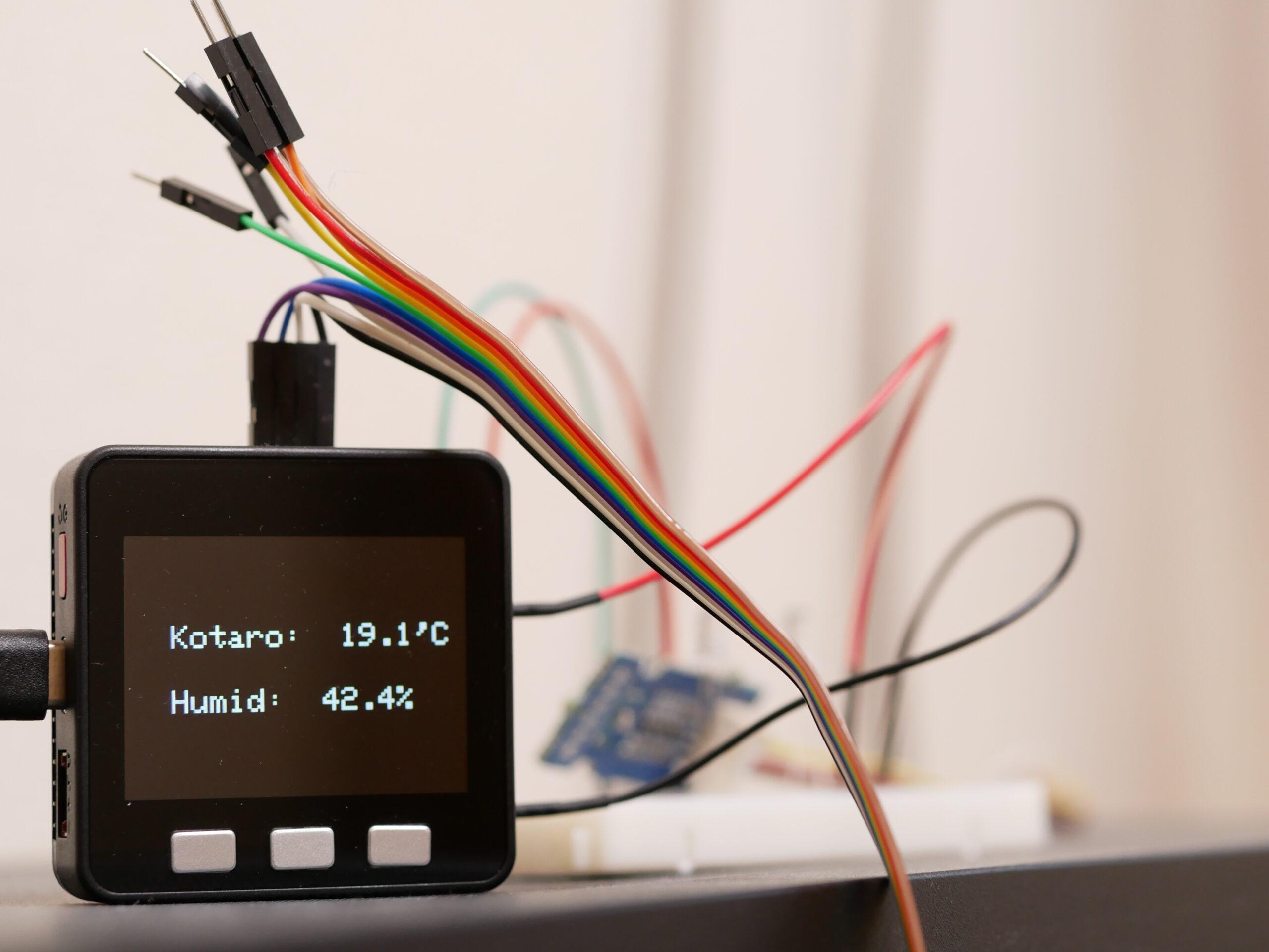 M5Stackで温湿度計を作る5つの手順